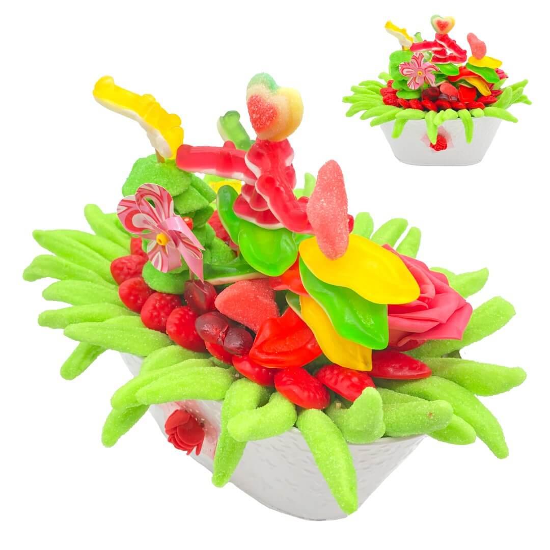 Bouquet de bonbons en pot