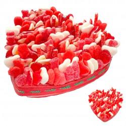 Cœur en bonbons de Noël