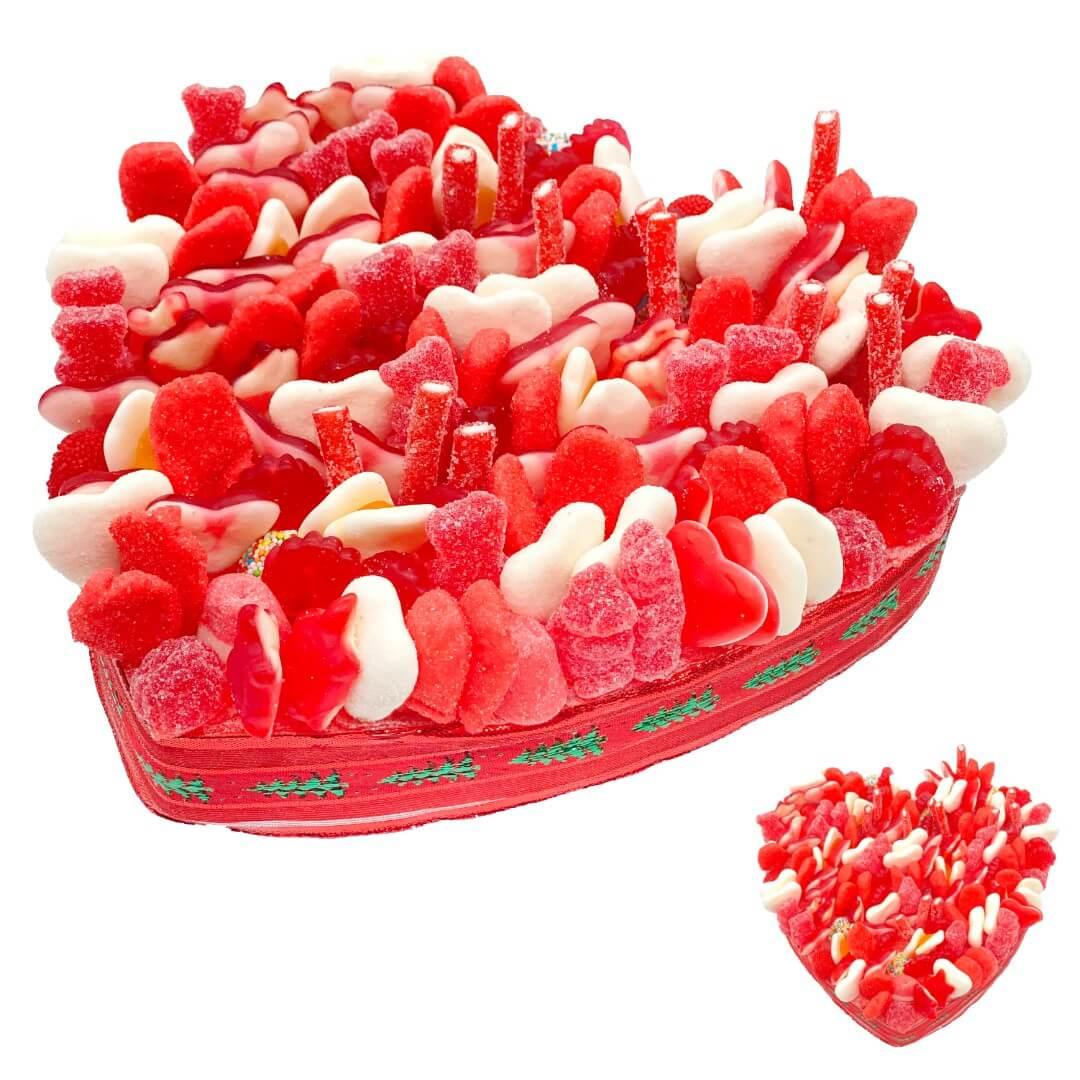 Cœur en bonbons de Noël ou Valentin