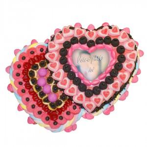 Double cœur noir et rose