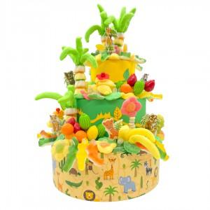 Pièce montée Jungle en bonbons