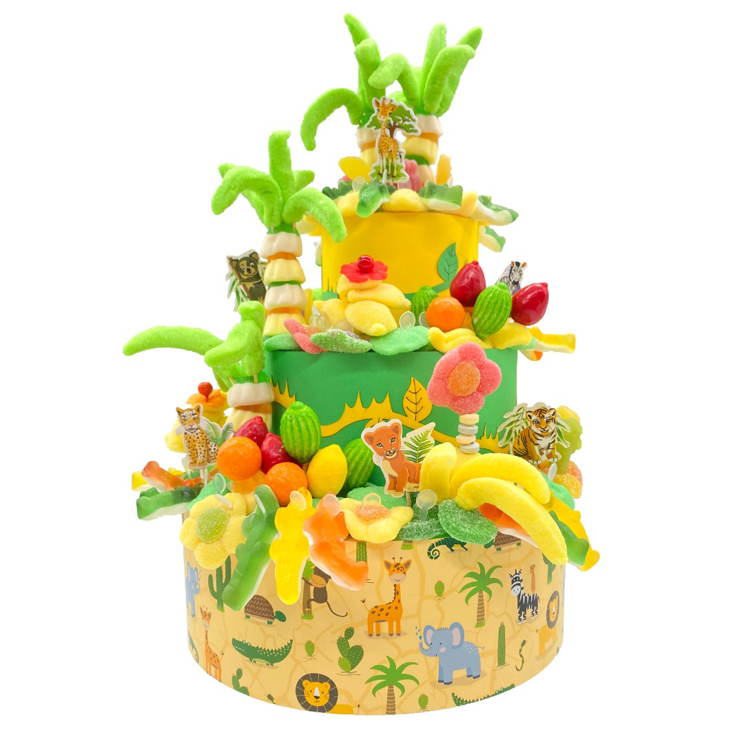 gâteau-bonbon-jungle-animaux
