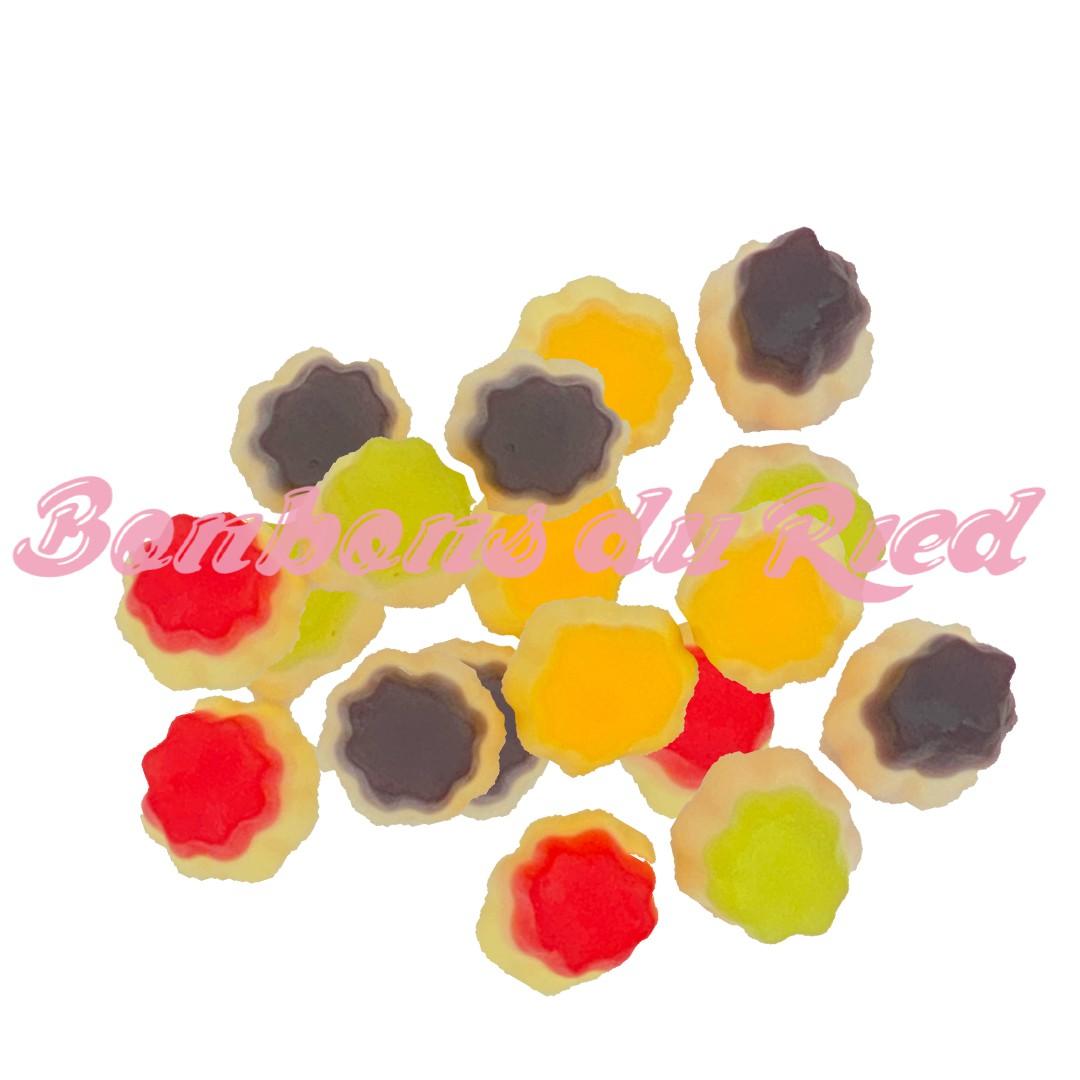 bonbon flan fruit