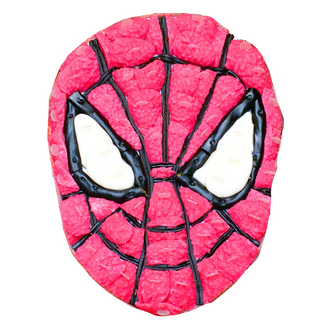 gateau spidermann bonbon