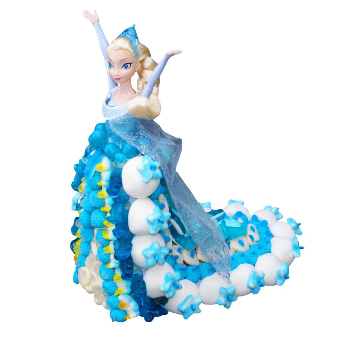 poupée en bonbons reine des neiges
