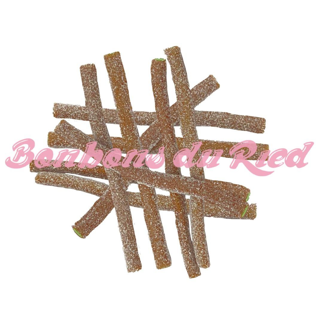 bonbons bâtonnets acide cola