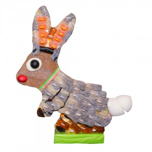 Lapin 3D en bonbons