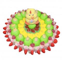 gâteau de pâques bonbon et guimauve