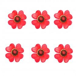 Fleur de table rouge en bonbons
