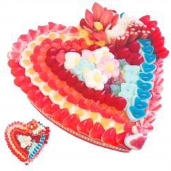 cœur en bonbons déclaration amour