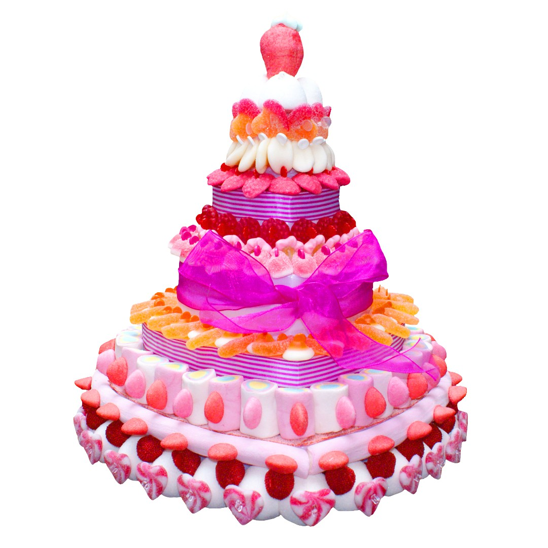 Pièce montée en bonbons mariage