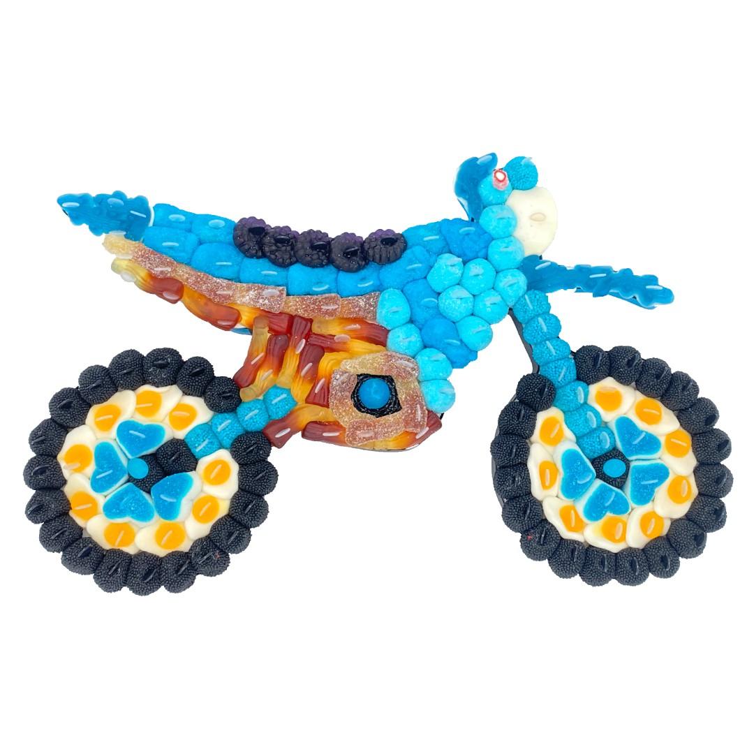 Moto cross en bonbons