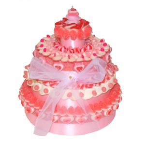 Gâteau Halal tendre rose