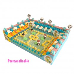 gâteau stade football 3D bonbons halal