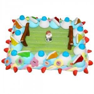 Gâteau en bonbons Face au but