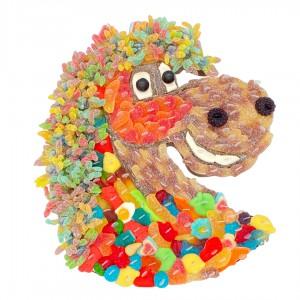 Gâteau de bonbons Tête de Cheval