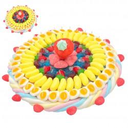 Gâteau mi-ange mi-démon en bonbons