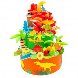 gâteau-pièce-montée-dinosaures-bonbon