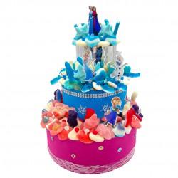 gâteau Elsa Anna Reine des Neiges bonbons
