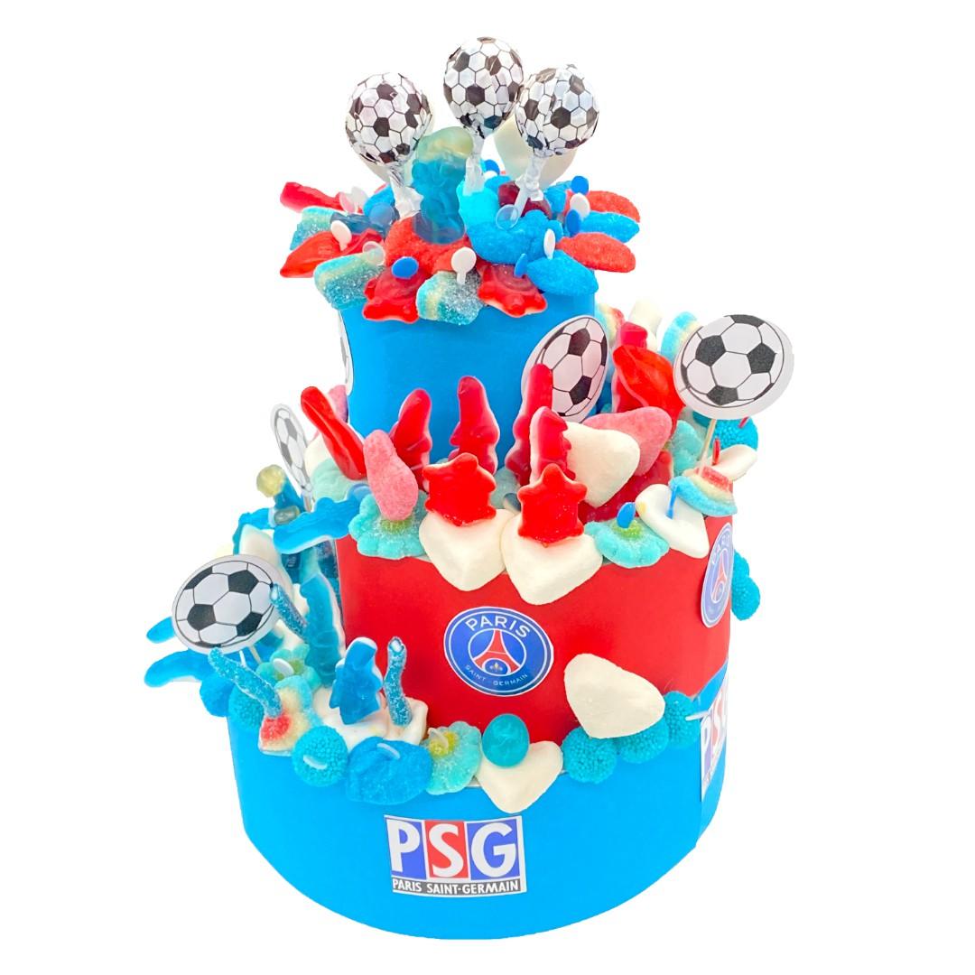 gâteau PSG aux bonbons