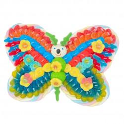 Papillon en bonbons schtroumpfs