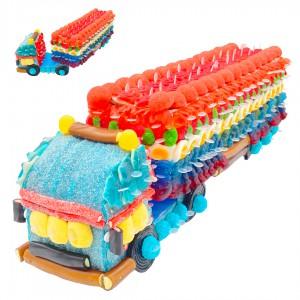 Camion remorque 3D en bonbons