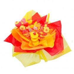 bouquet bonbons jaune rouge soleil