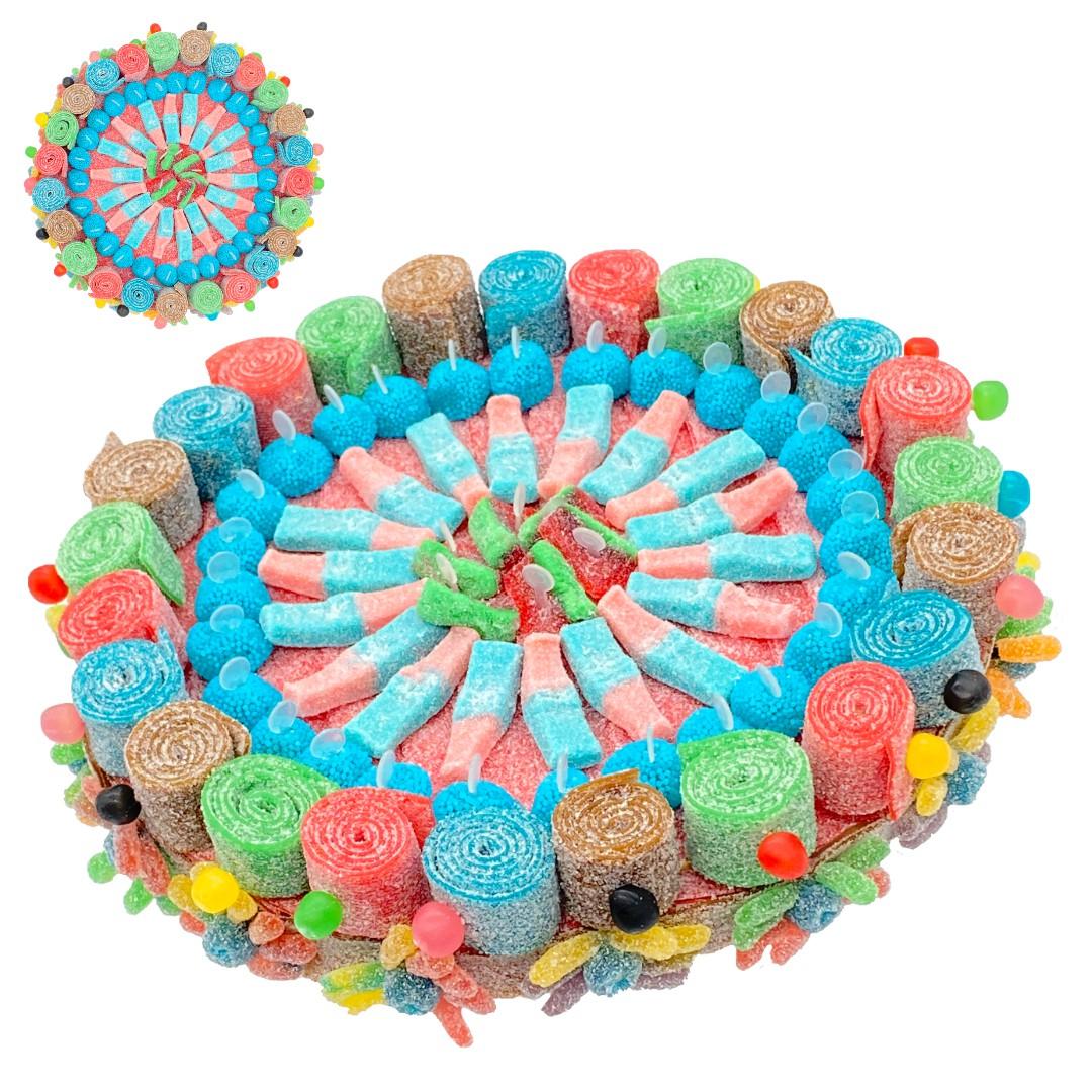 Tarte aux bonbons acidulés halal