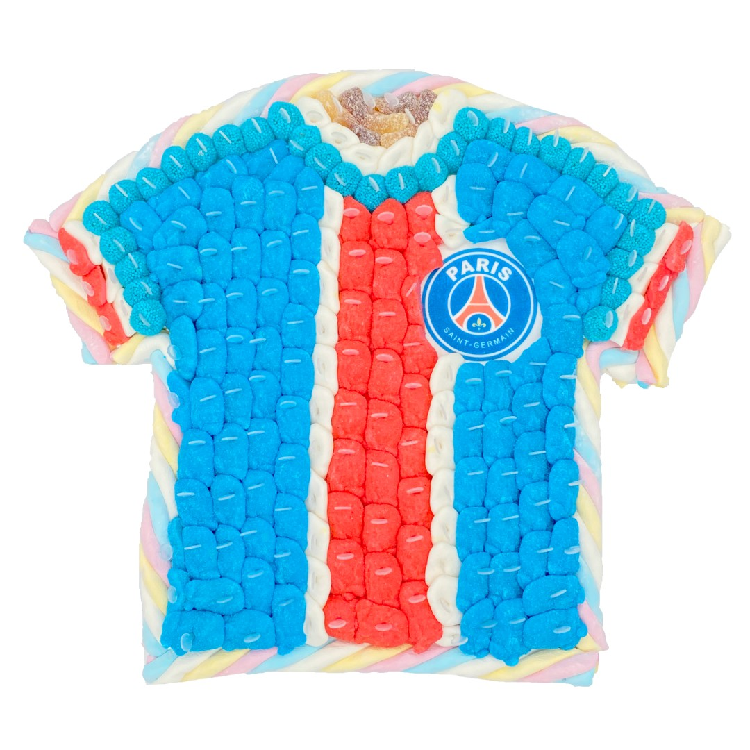 gateau bonbon maillot football PSG