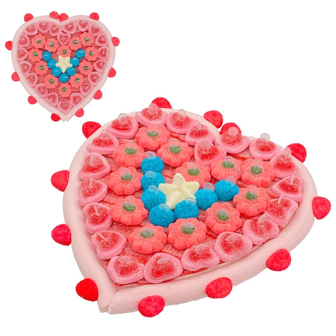 Cœur rose bonbons