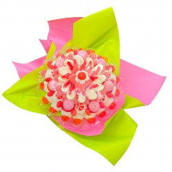 Grand bouquet roses bonbons