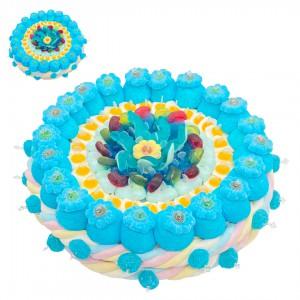 Gâteau de bonbons bleu