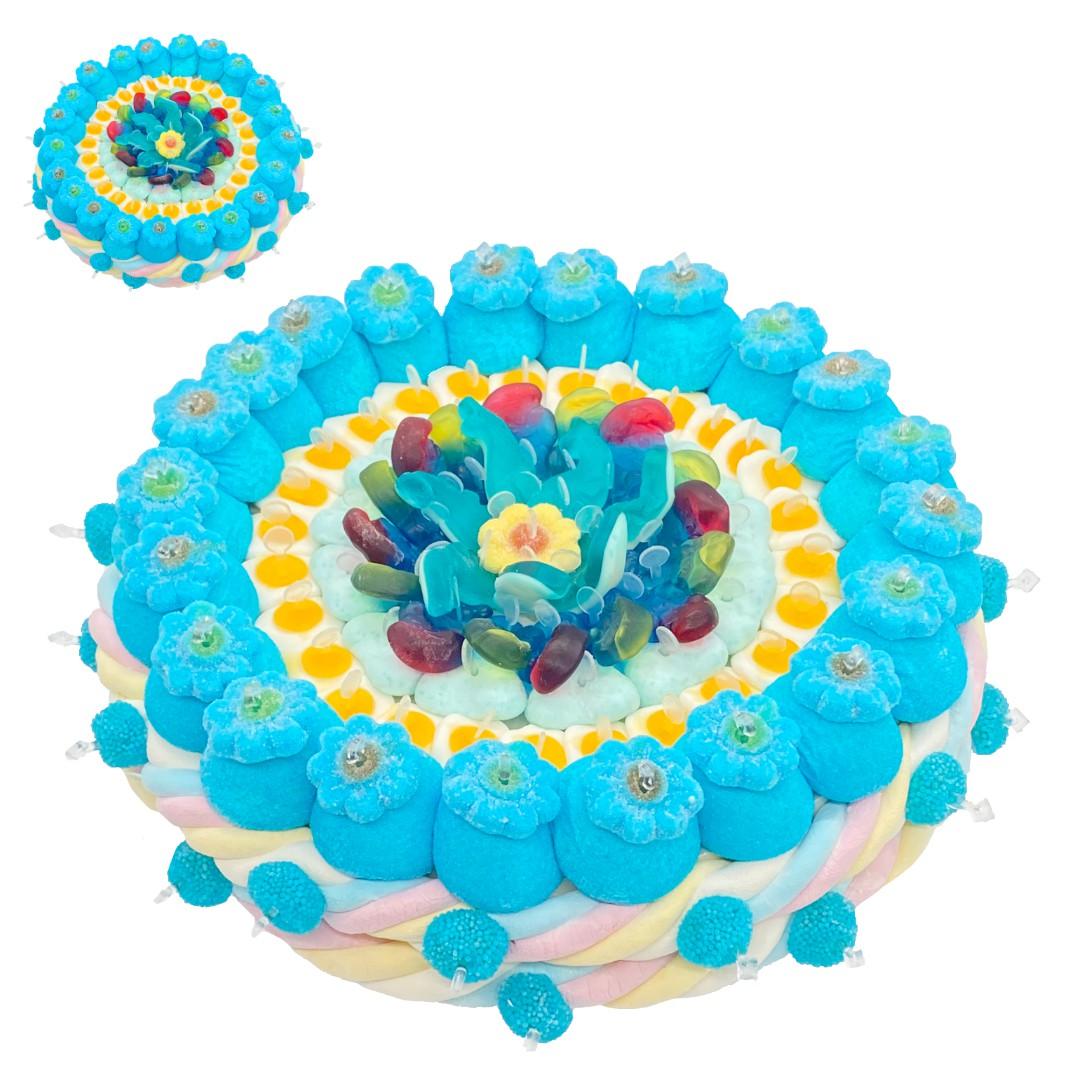 tarte bleue bonbon gateau