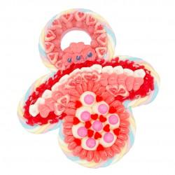 Tétine bébé rose en bonbons