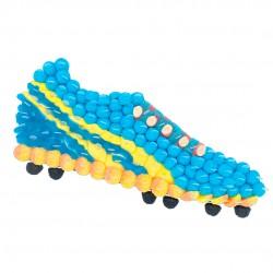 chaussure football bleu bonbon