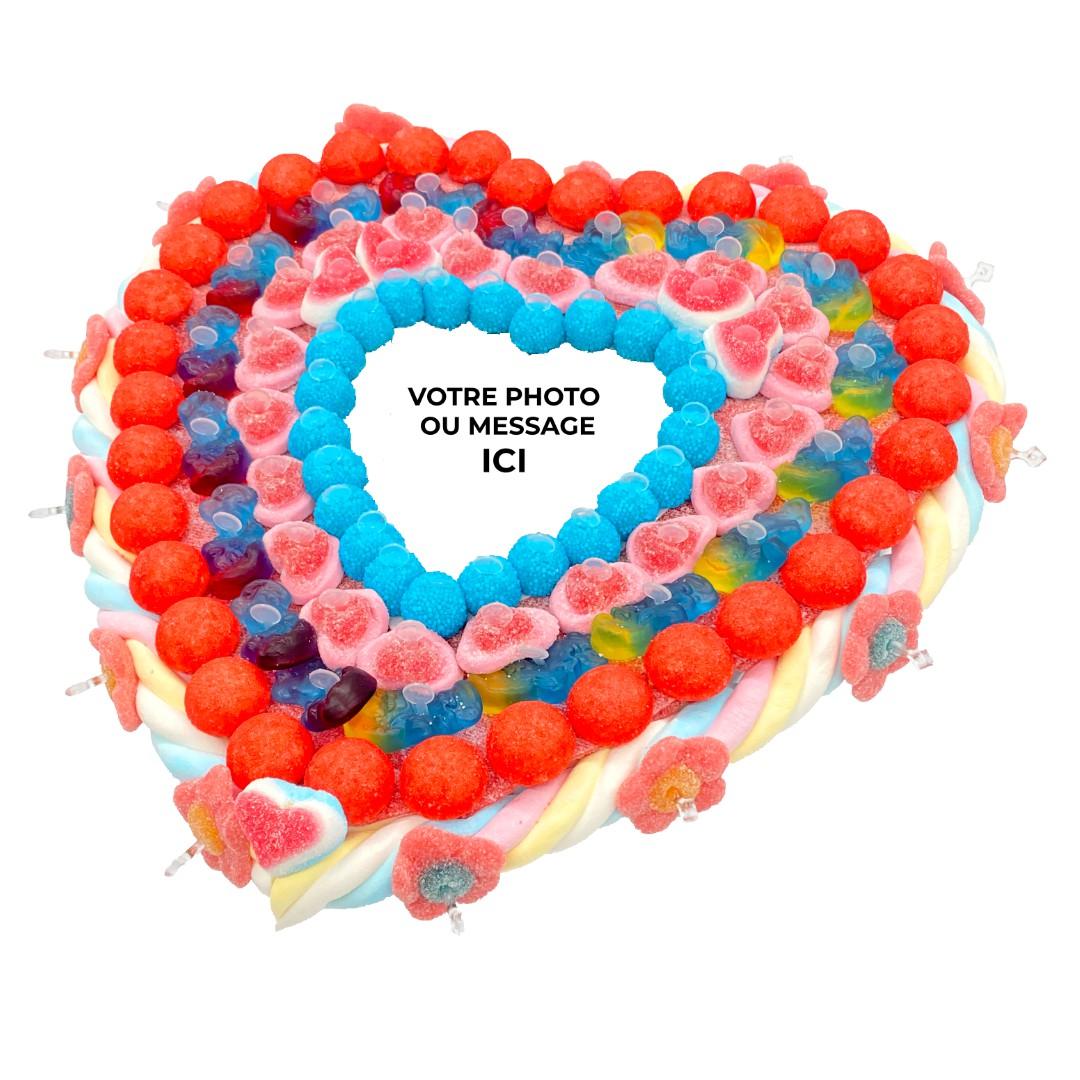 cœur en bonbons avec photo personnalisable