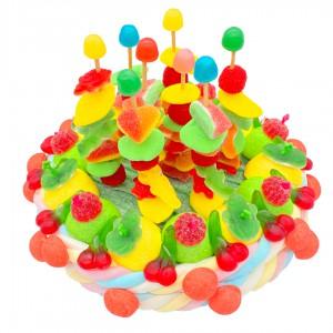 Gâteau de brochettes en bonbons