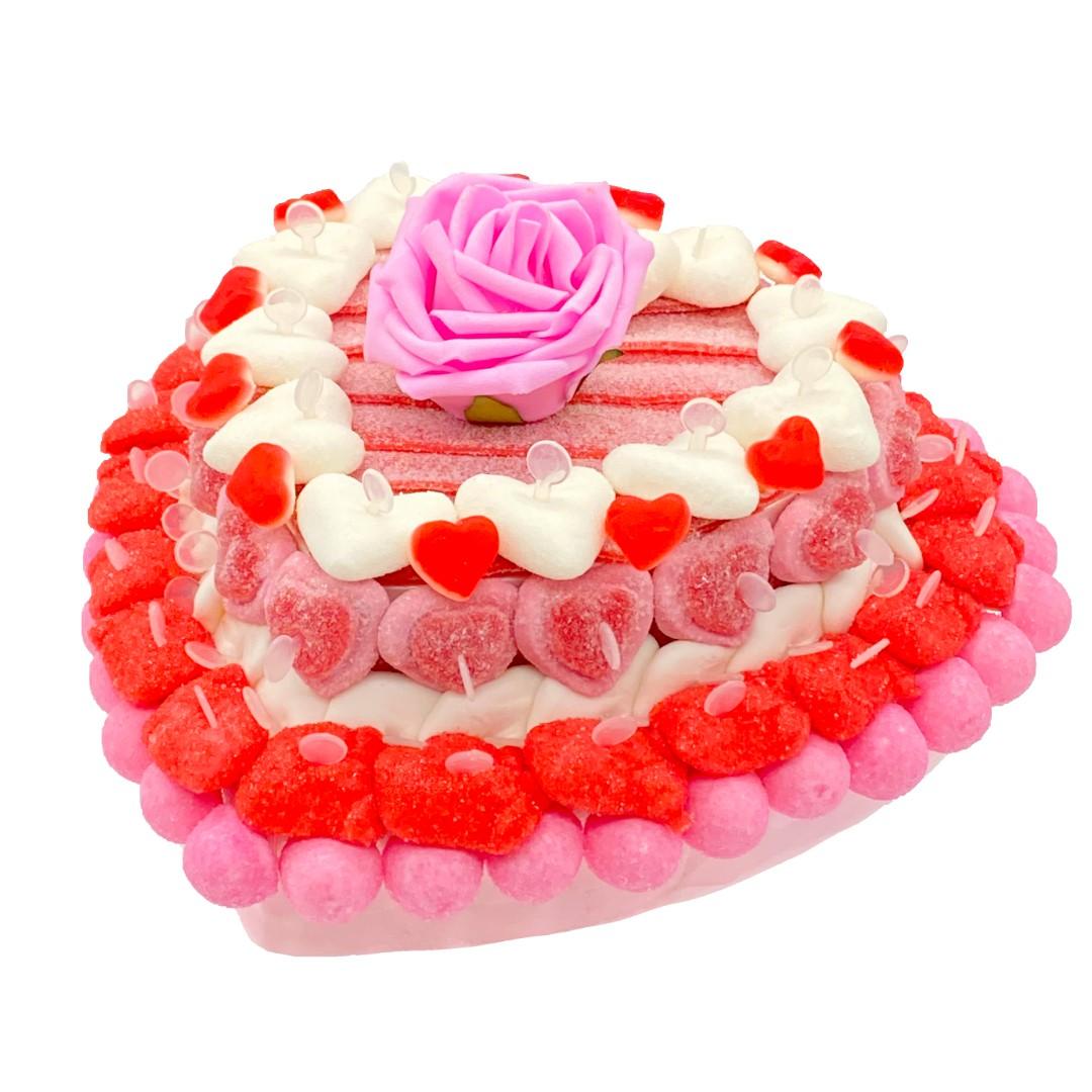 petite pièce montée cœur en bonbons