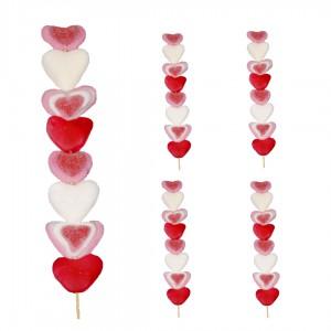 Brochette de cœurs en bonbons