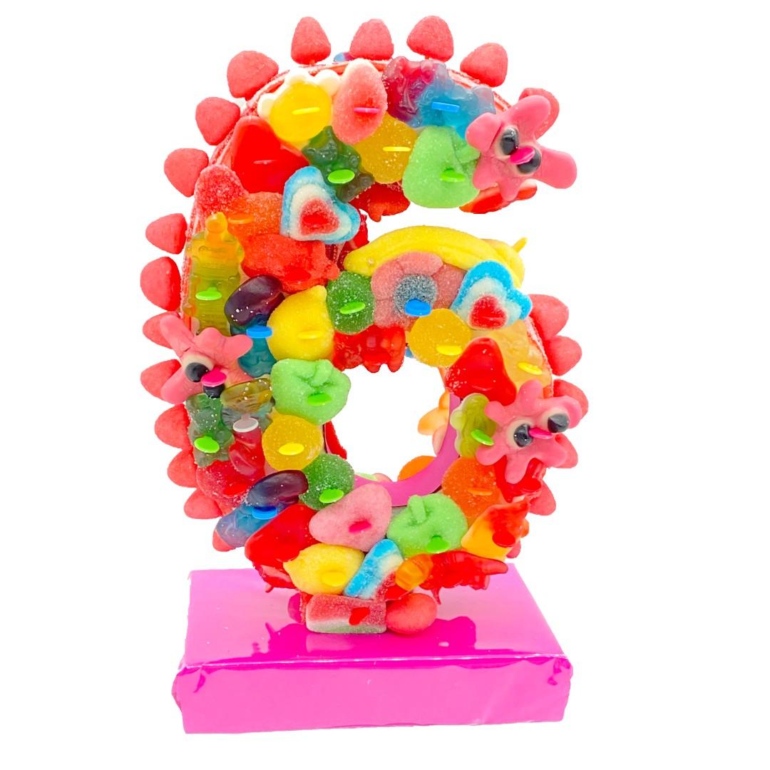 Chiffre en bonbons 3D