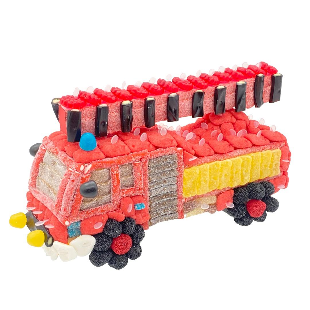 gateau camion pompier bonbons 3D