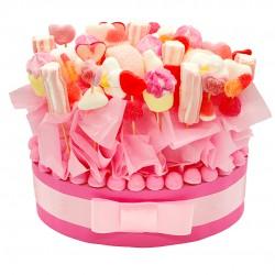 Centre table bonbon rose bapteme