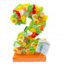 gateau bonbon Chiffre 3D personnalisable