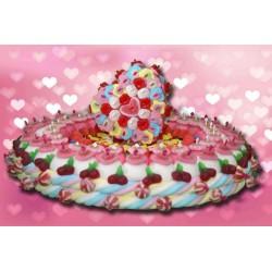 Gâteau de mariage en bonbons