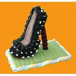 Chaussure à talon en bonbons