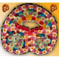 Bretzel sucré en bonbons