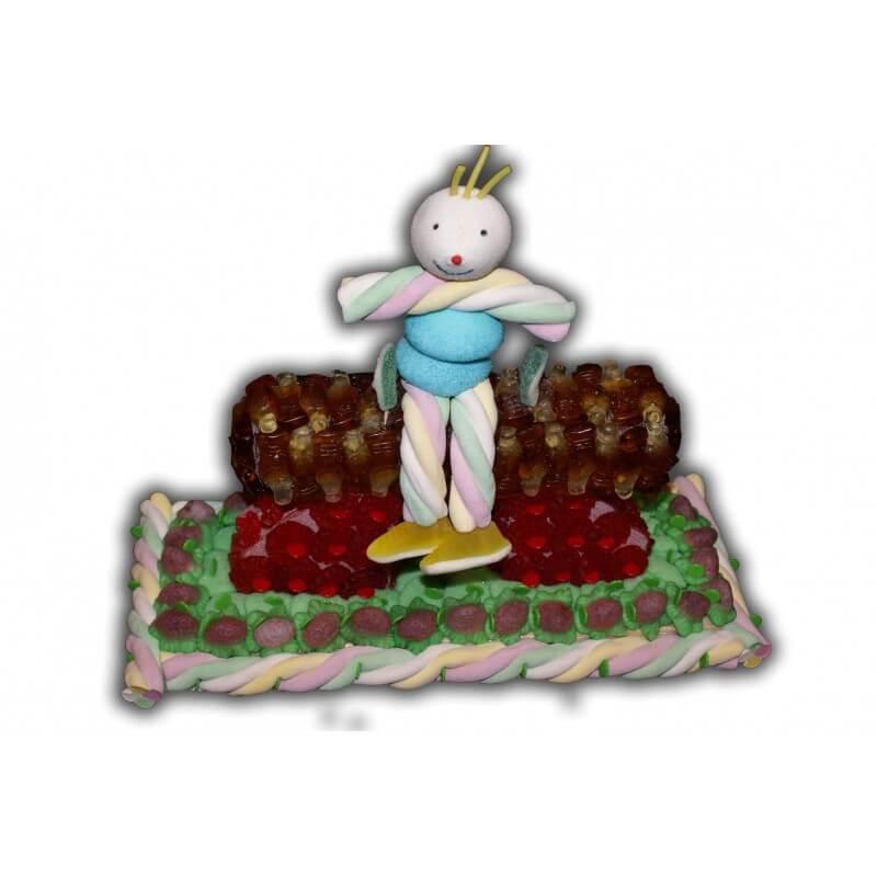 Cheval d'arçon en bonbons