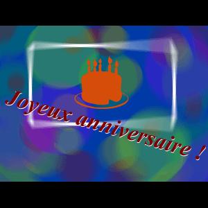 "Carte à manger ""Joyeux anniversaire"""