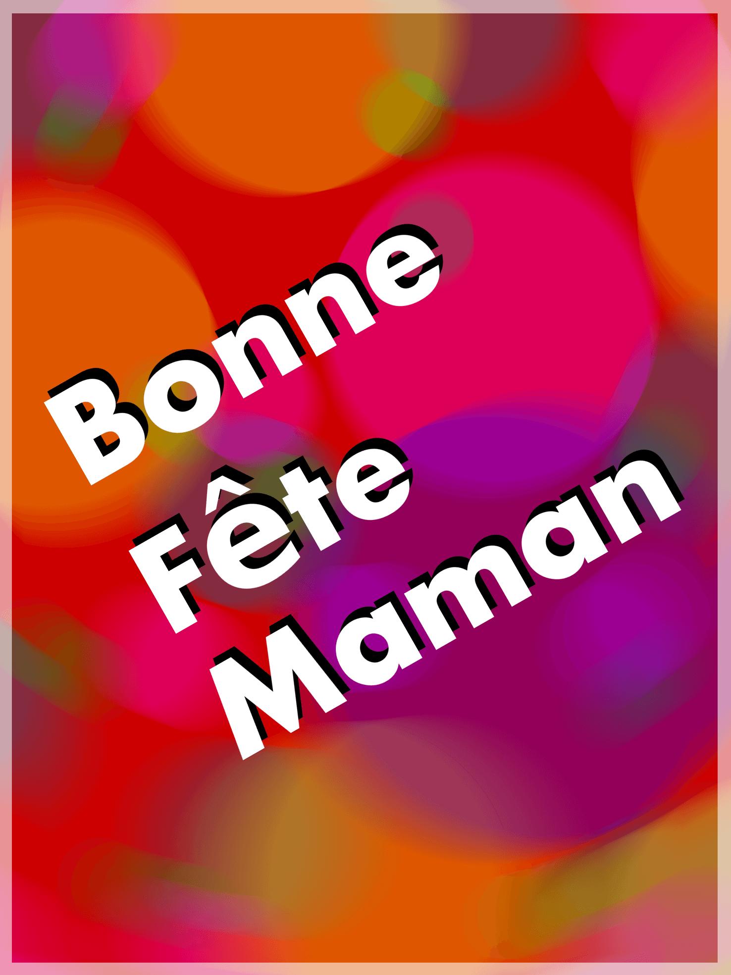 """Carte à manger """"Bonne fête Maman"""""""