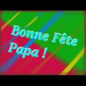 """Carte à manger """"Bonne fête Papa"""""""